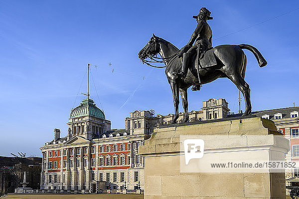 Old Admiralty Building at Whitehall with statue  Westminster  London  England  United Kingdom  Europe
