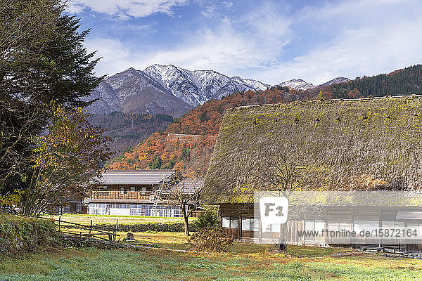 Traditional houses of Ogimachi  UNESCO World Heritage Site  Shirakawa-go  Toyama Prefecture  Honshu  Japan  Asia