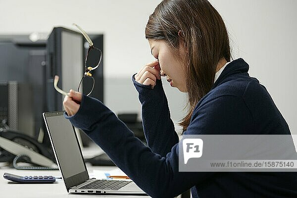 Japanese businesswoman in the office