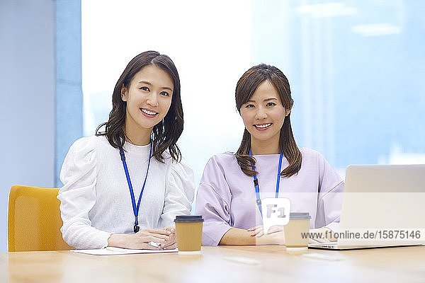 Japanese businesswomen in the office