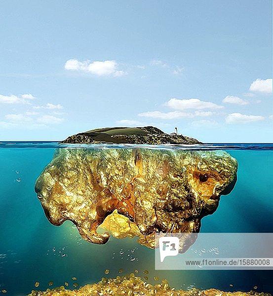 Illustration  tax havens island
