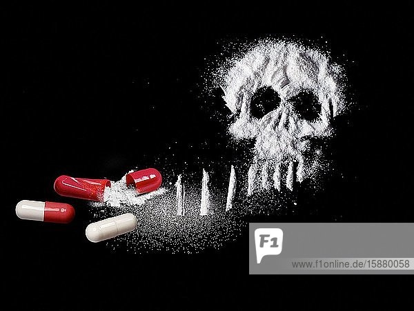 Illustration depicting the danger of drugs