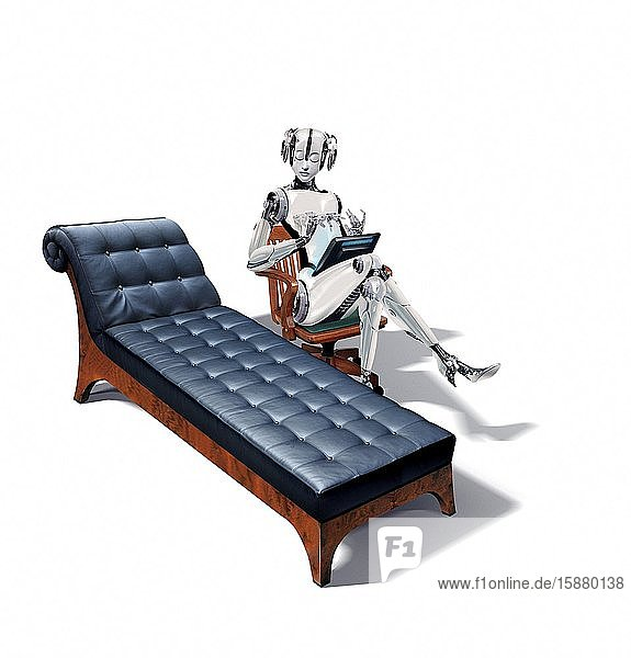 Illlustration  robot your psychotherapist