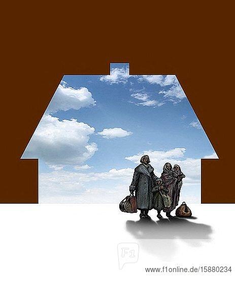 Illustration  refugees