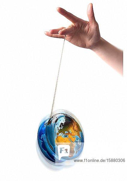 Illustration  yo-yo effect in world politics