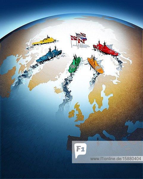 Illustration  North Pole Mining