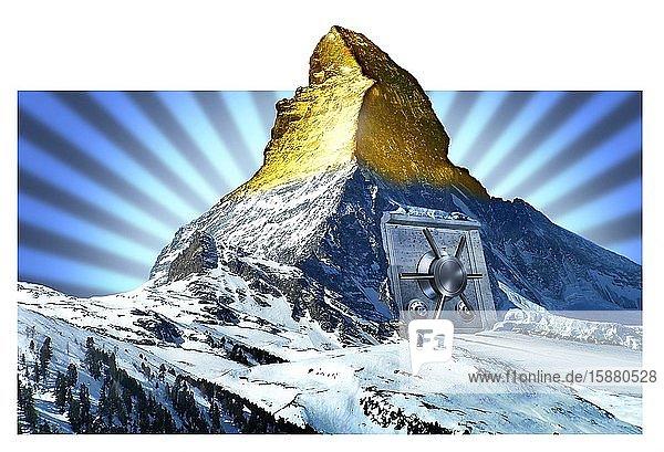Illustration  Switzerland  banks.