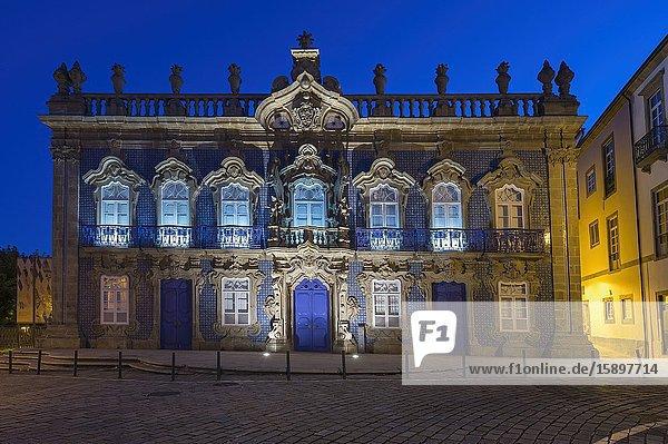 Palacio do Raio  Raio Palace or House of the Mexican at sunset  Front façade  Braga  Minho  Portugal.