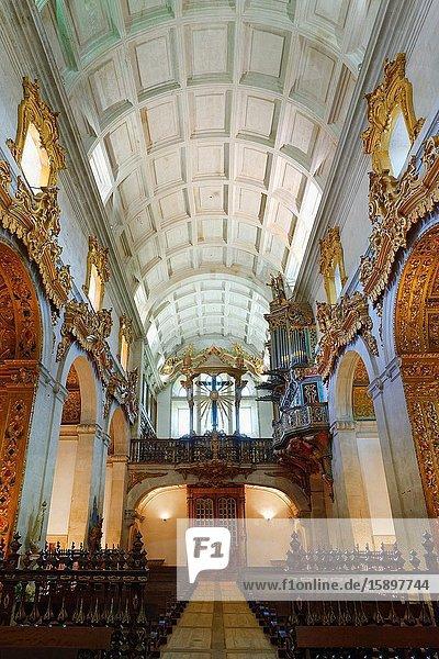 St. Martin of Tibaes Monastery  Central Nave and Upper Choir  Braga  Minho  Portugal.