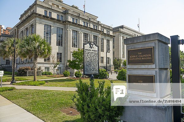 John C. Calhoon amd state court of appeals Columbia South Carolina home of the Statehouse Capital building with a rich history.