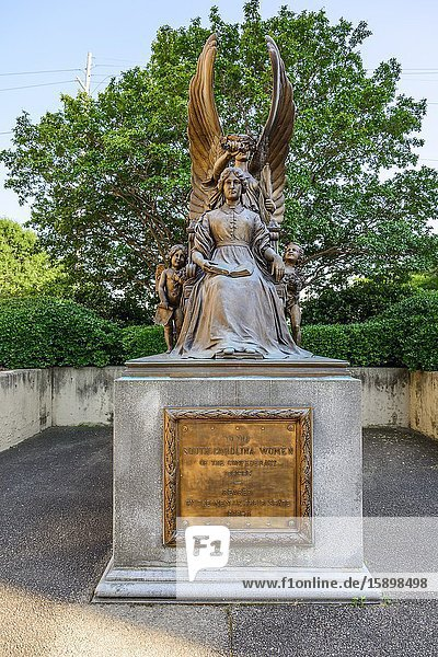 Women of the Confederacy memorial statue Columbia South Carolina home of the Statehouse Capital building with a rich history.