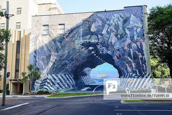 Tunnel Vision Mural Columbia South Carolina home of the Statehouse Capital building with a rich history.
