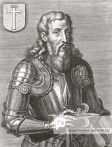 Infante D. Henrique of Portugal  Duke of Viseu  aka Prince Henry the Navigator  1394 - 1460. Son of King João of Portugal. Chiefly responsible for Portugal's age of exploration.