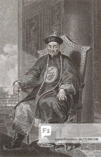 Tchien Lung  The Qianlong Emperor  1711 -1799. Sixth Emperor of the Qing dynasty.