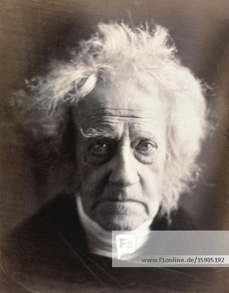 Sir John Frederick William Herschel  1st Baronet  1792-1871. English polymath  mathematician  astronomer  chemist  inventor and experimental photographer. After a portrait taken by English photographer Julia Margaret Cameron  1815 - 1879.