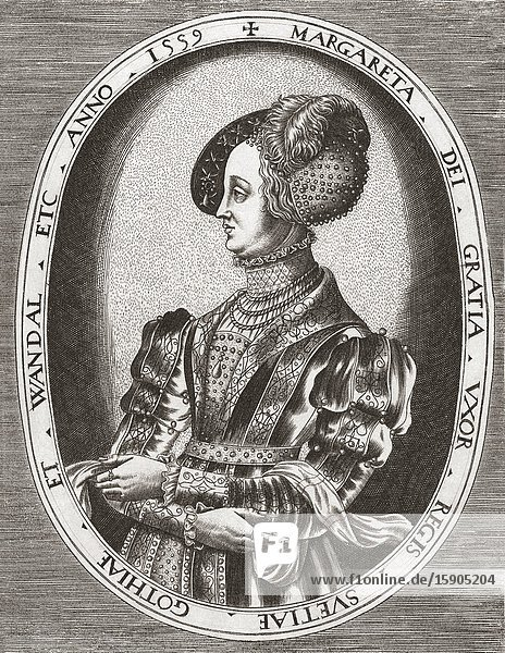 Margaret Leijonhufvud  1516-1551. Queen of Sweden from 1536 to 1551 as wife of King Gustav I.