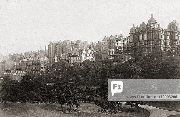 Edinburgh  Scotland in the late 19th century.