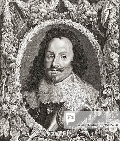 Thomas Francis of Savoy  Prince of Carignano  1596-1656. Italian military commander  founder of the Carignano branch of the House of Savoy. After a 17th century engraving.