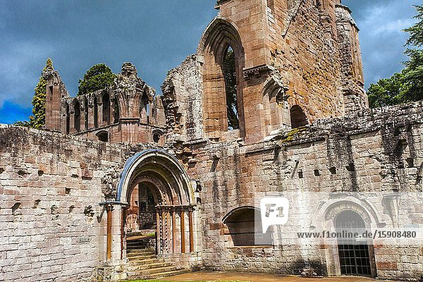 Dryburgh Abbey  Scottish Borders District  Scotland  United Kingdom  Europe.