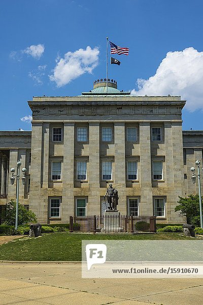 Raleigh NC North Carolina state capitol capital statehouse complex.