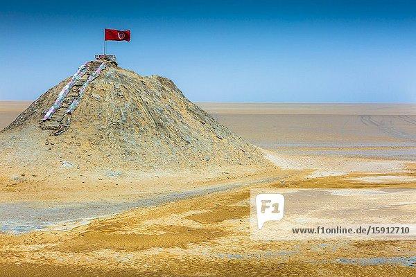 Chott el Djerid salt lake. Tunisia  Africa.
