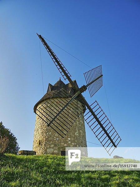 Historic windmill  built in 1620  Tourtres  Lot-et-Garonne Department  Nouvelle Aquitaine  France.