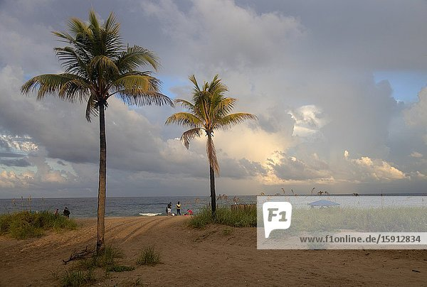 Storm in the beach  Miami  Florida  USA..