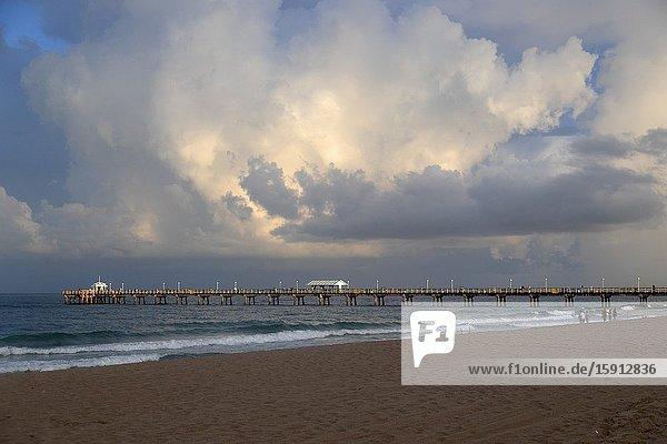 Storm in the beach  Miami  Florida  USA.