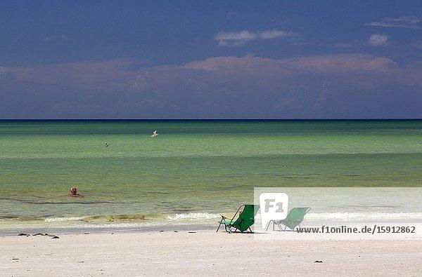 People in the beach. Siesta Key beach  Siesta Key  Sarasota  Florida  USA.