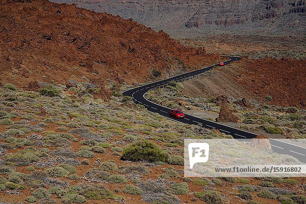 Landscape at Teide National Park  Tenerife  Canary Islands  Spain  Europe