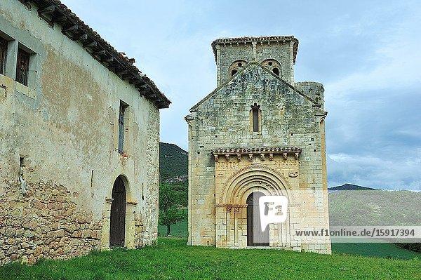 The Romanesque shrine of San Pedro de Tejada  XIIth century. Puente-Arenas town  Merindades de Valdivielso region  Burgos province  Spain