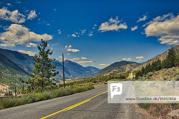 Highway 12 south of Lillooet  British Columbia  Canada.