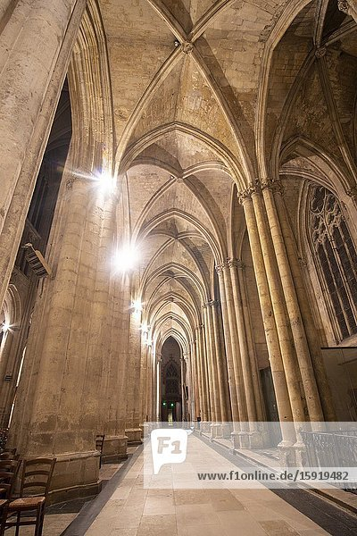 Tours Loire valley in France: Cathedral in Tours in Indre et Loir department at Loire Valley  France.