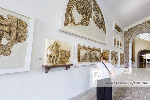 Art pieces. Bardo National Museum. Tunis city. Tunisia  Africa.