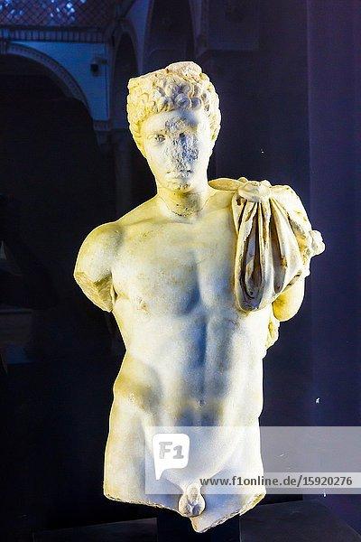 Mercury God in Carthage Room. Bardo National Museum. Tunis city. Tunisia  Africa.