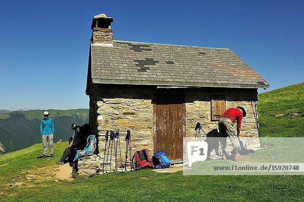 The Hut of Saunères in the Pyrenees  near of Bagnères de Luchon  Haute-Garonne department  France