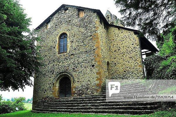 The Romanesque chapel  XII century. Castillon-en-Couserans town  Ariège department  France