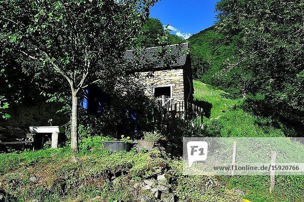 A farm in the Ariège Pyrenees Regional Nature Park   Ariège department  France