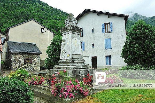 Aulus-les-Bains town  Ariège department  France
