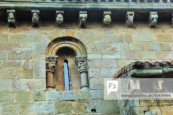 The Romanesque Collegiate church of San Pedro  12th century. Cervatos town  Cantabria province  Spain.