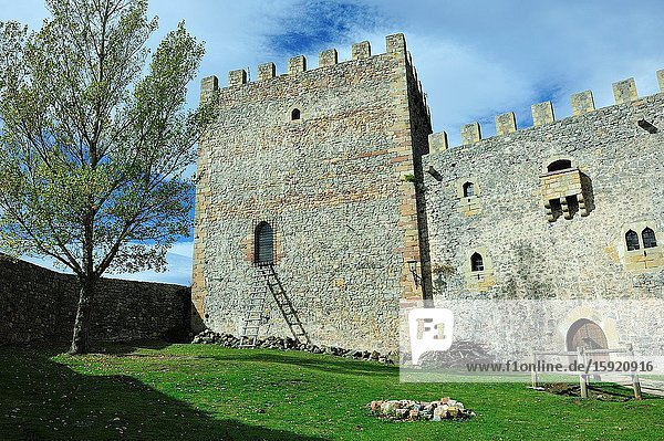 The Castle of San Vicente. Argüeso town  Cantabria province  Spain.