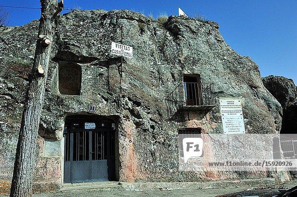 La Casa de Piedra is a house excavated in the stone. Alcolea del Pinar town  Guadalajara province  Spain