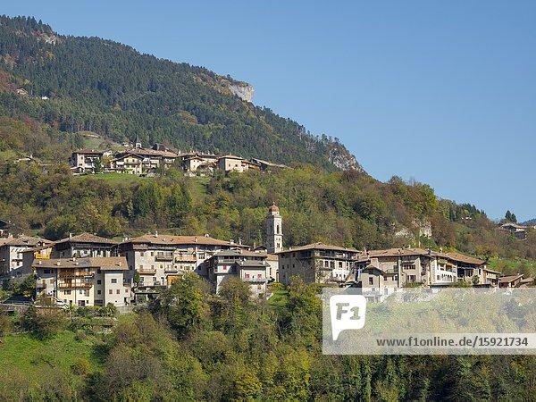 San Lorenzo Dorsino in the Dolomiti di Brenta  part of UNESCO world heritage Dolomites. Europe  Italy  Trentino