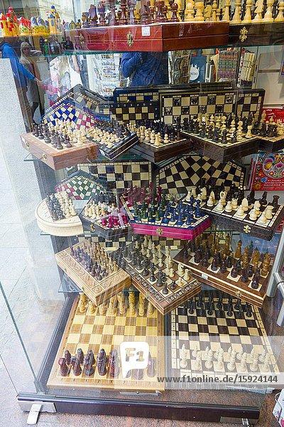 Chess sets for sale Old Town Krakow Poland Europe EU.