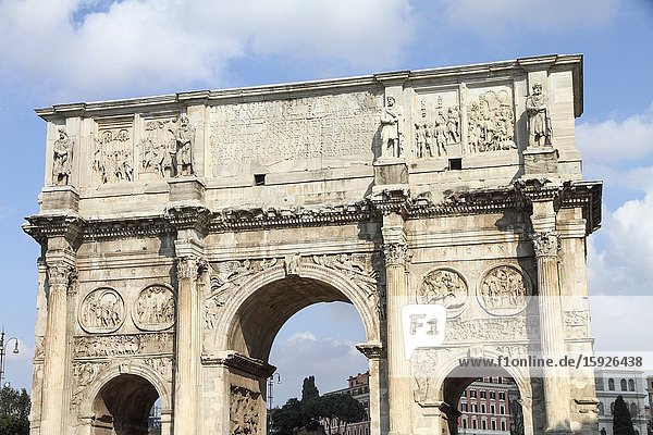 The Arch of Septimius Severus in the Forum of Rome.