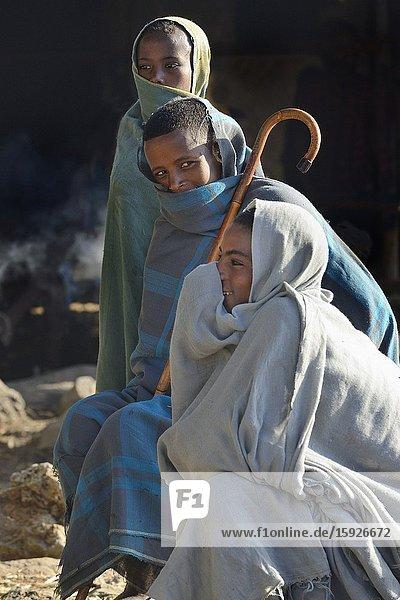 Ethiopia  Bahir Dar region  Cold morning at Tissisat village.