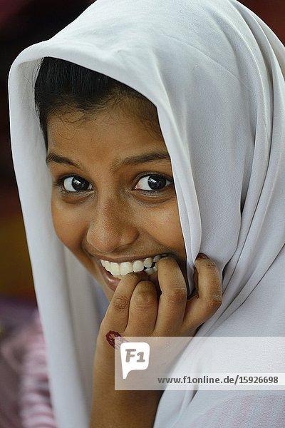India  Kerala  Allepey (Alappuzha)  St Anthony's school  Young schoolgirl.