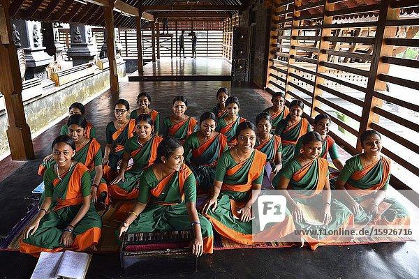 India  Kerala  Cheruthuruthy  Kalamandalam (University of Art and Culture)  Young students.