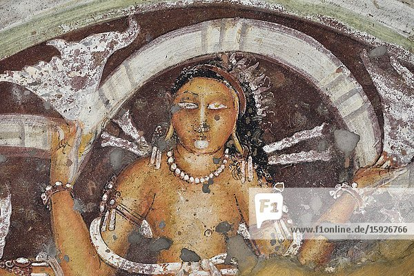 India  Maharashtra  World Heritage Site  Ajanta  Cave 17 (6th C).