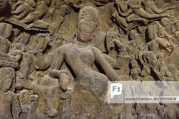 India  Maharashtra  Mumbai (Bombay)  World Heritage Site  Elephanta caves  Androgynous Shiva.